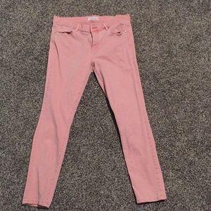Pink loft modern skinny crop size 29/8